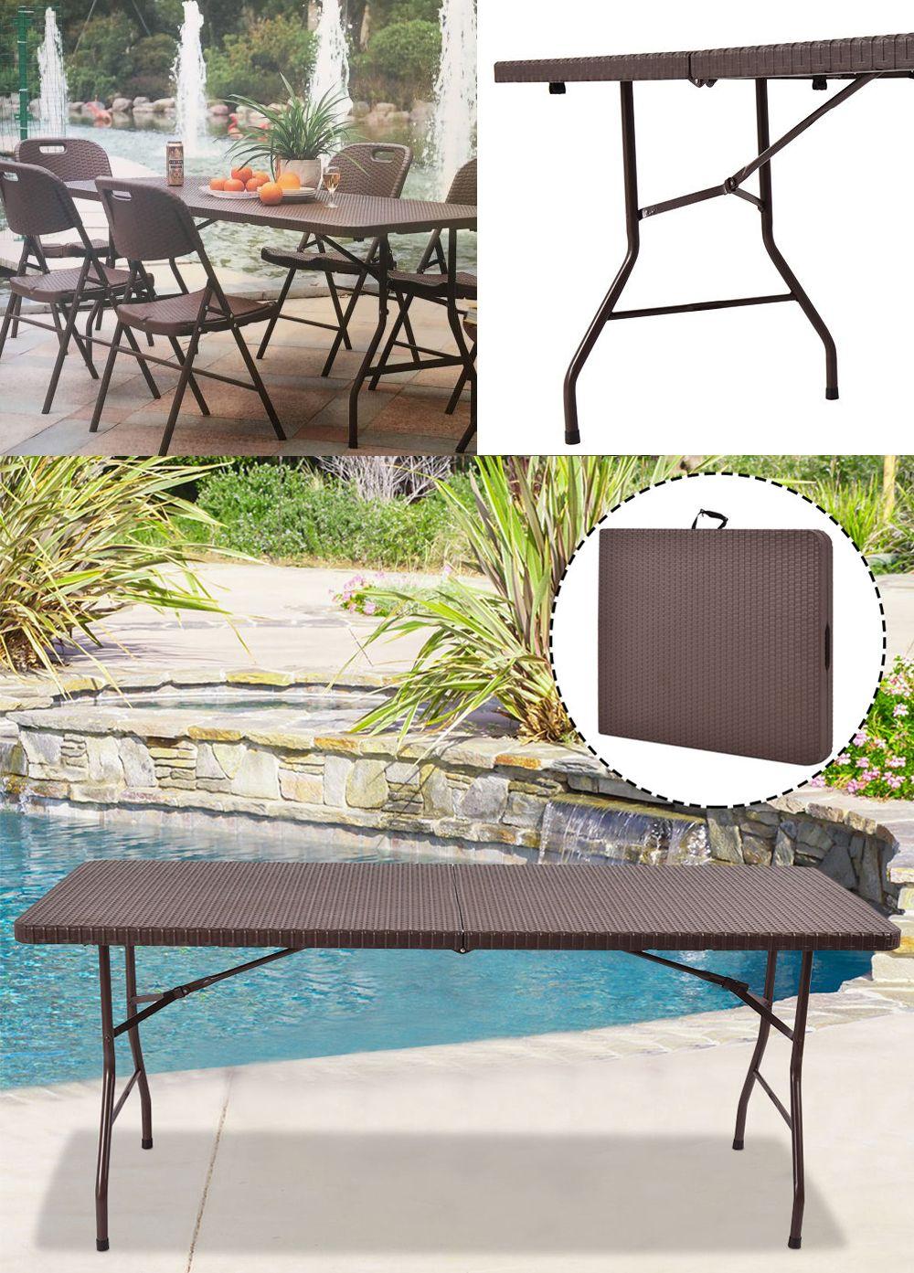 Rattan Stol Skladany Ogrodowy Ratanowy Bankiet 180 7587868566 Allegro Pl Outdoor Furniture Sets Outdoor Furniture Furniture