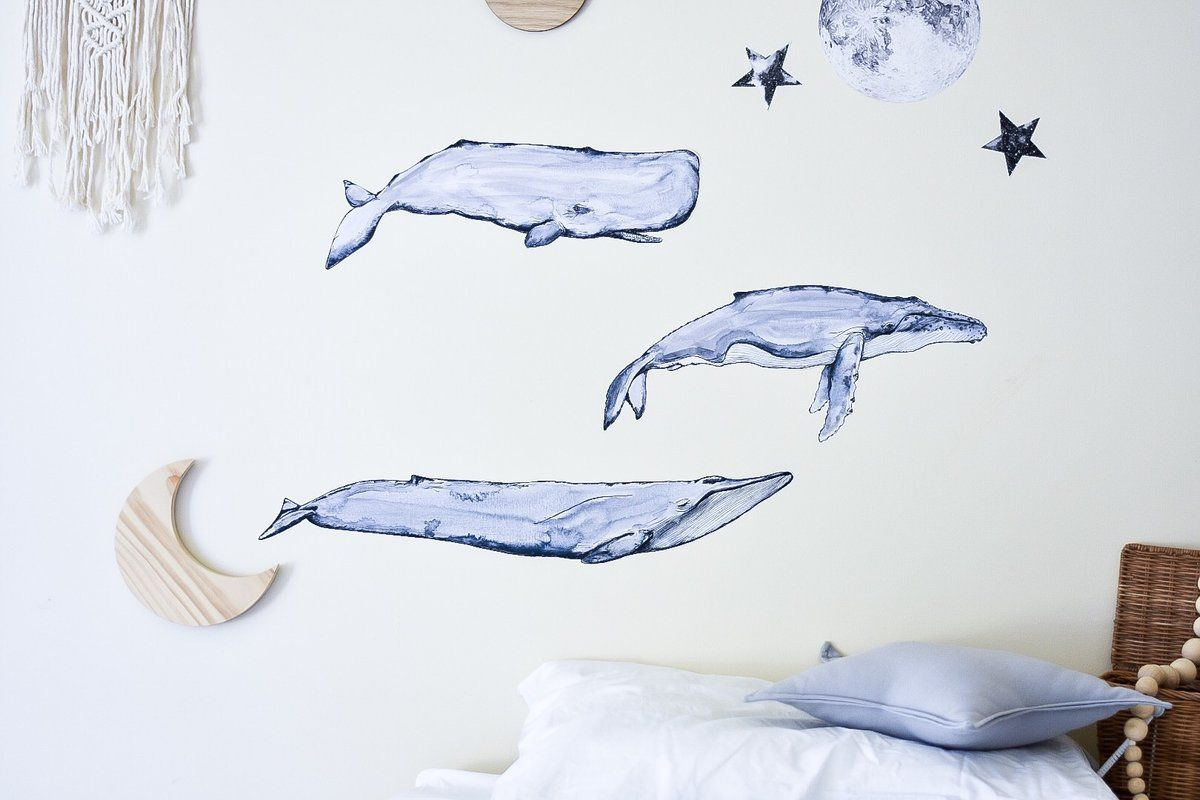 From The Deep The Whale Collection Fabric Wall Decals Wall