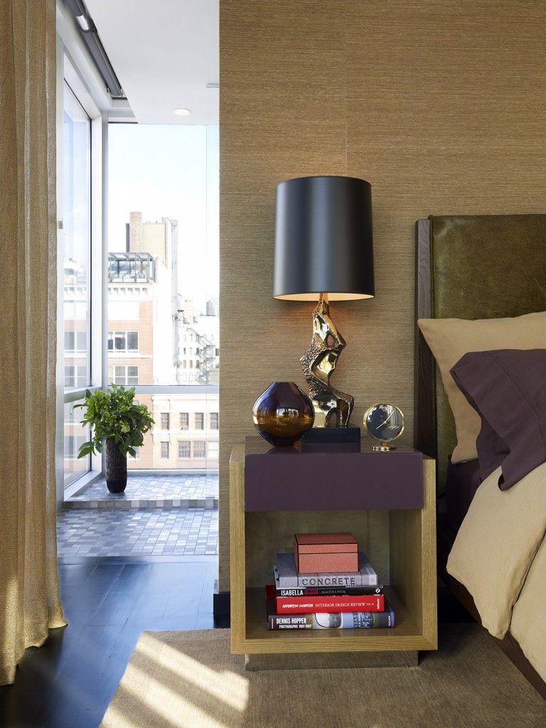 Chelsea NYC | Bradley Bayou Design - Master Bedroom detail