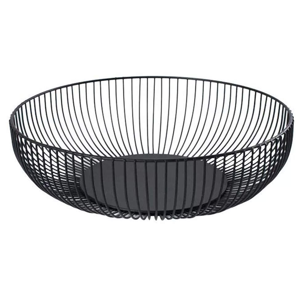 Metal Wire Countertop Fruit Storage Basket Stand For Kitchen