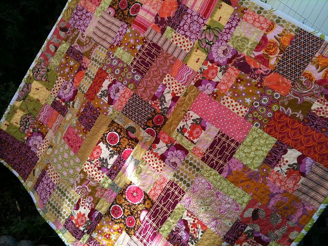 Brandied Pear, Random Patchwork Quilt by Mama Roux, via Flickr