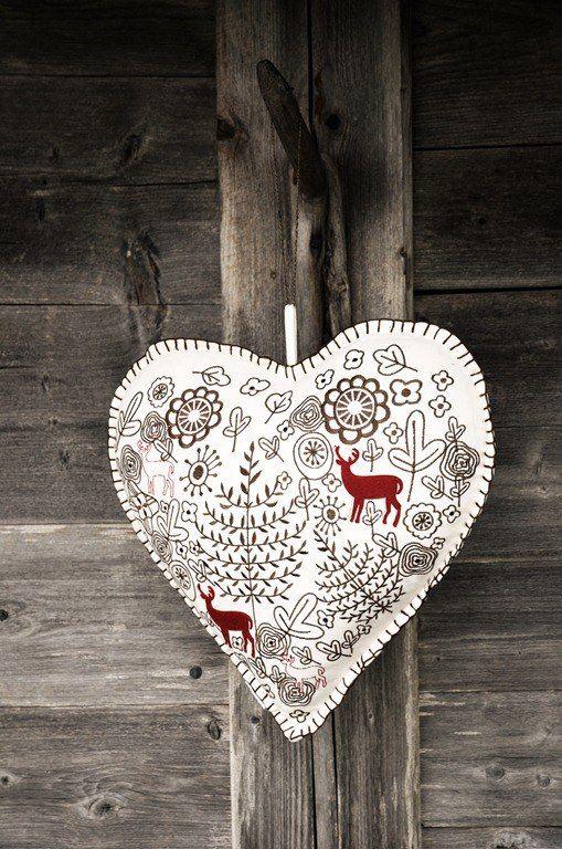 Scandinavian heart decoration