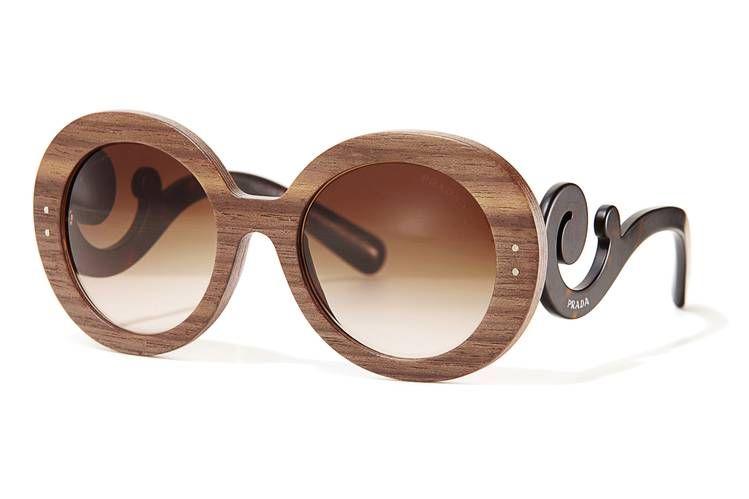 3a3a73565d  Wood You Wear  Prada  Sunglasses in Malabar Ebony and Black  Walnut