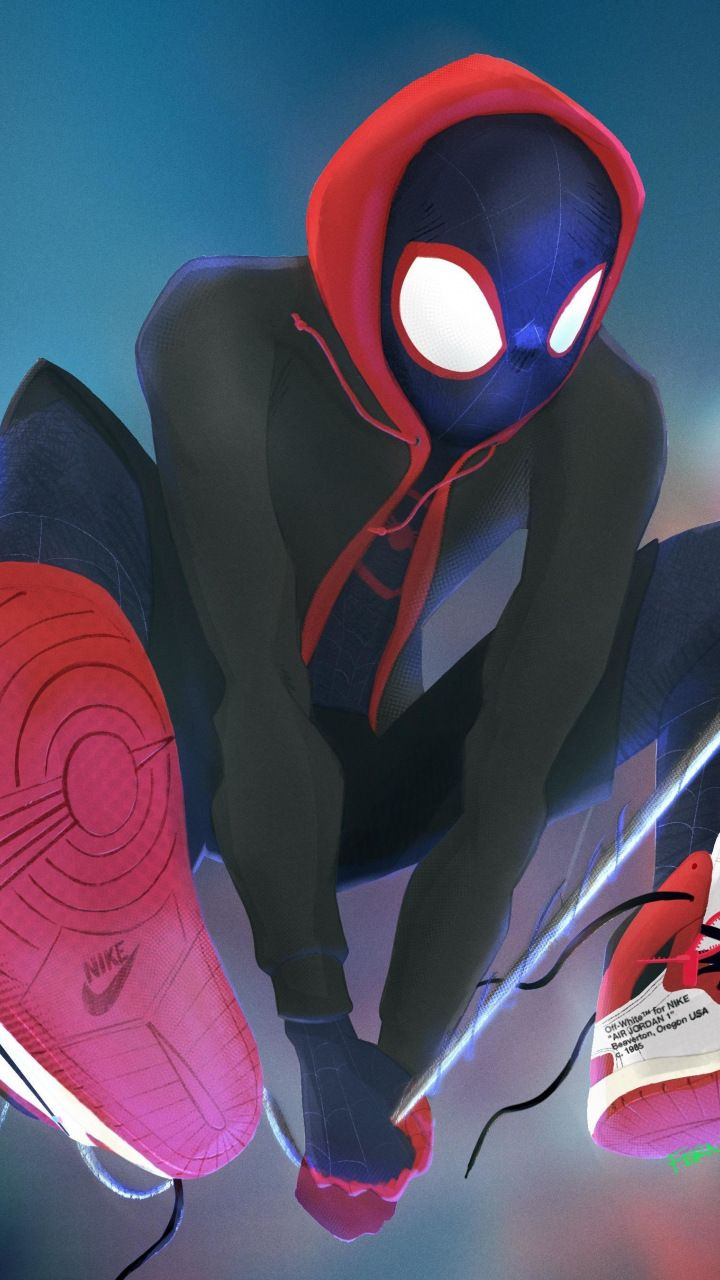 Spider Man Into The Spider Verse Spider Men Art 720x1280 Wallpaper Spiderman Spiderman Art Wallpaper