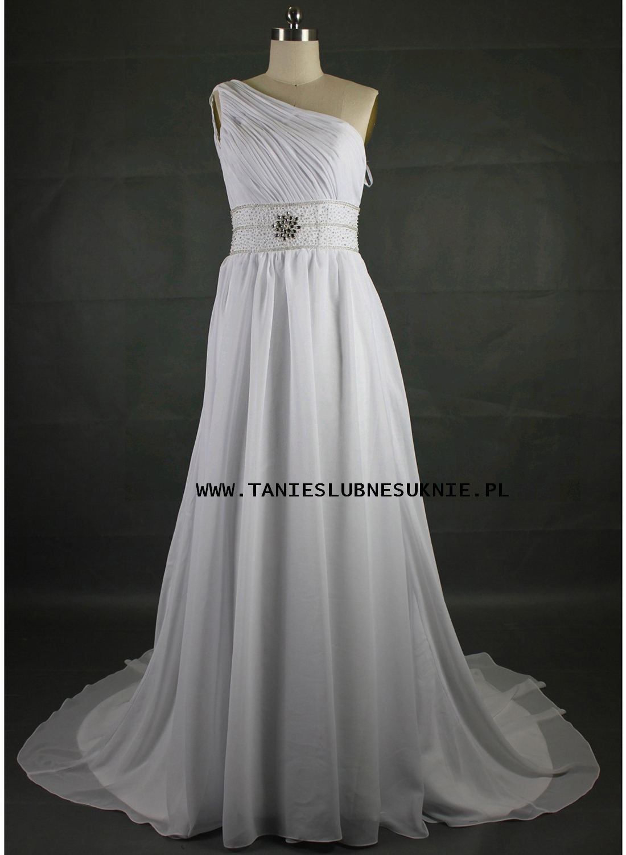 Suknia Slubna Ch8022 Tanie Suknie Slubne Wedding Dresses Dresses One Shoulder Wedding Dress