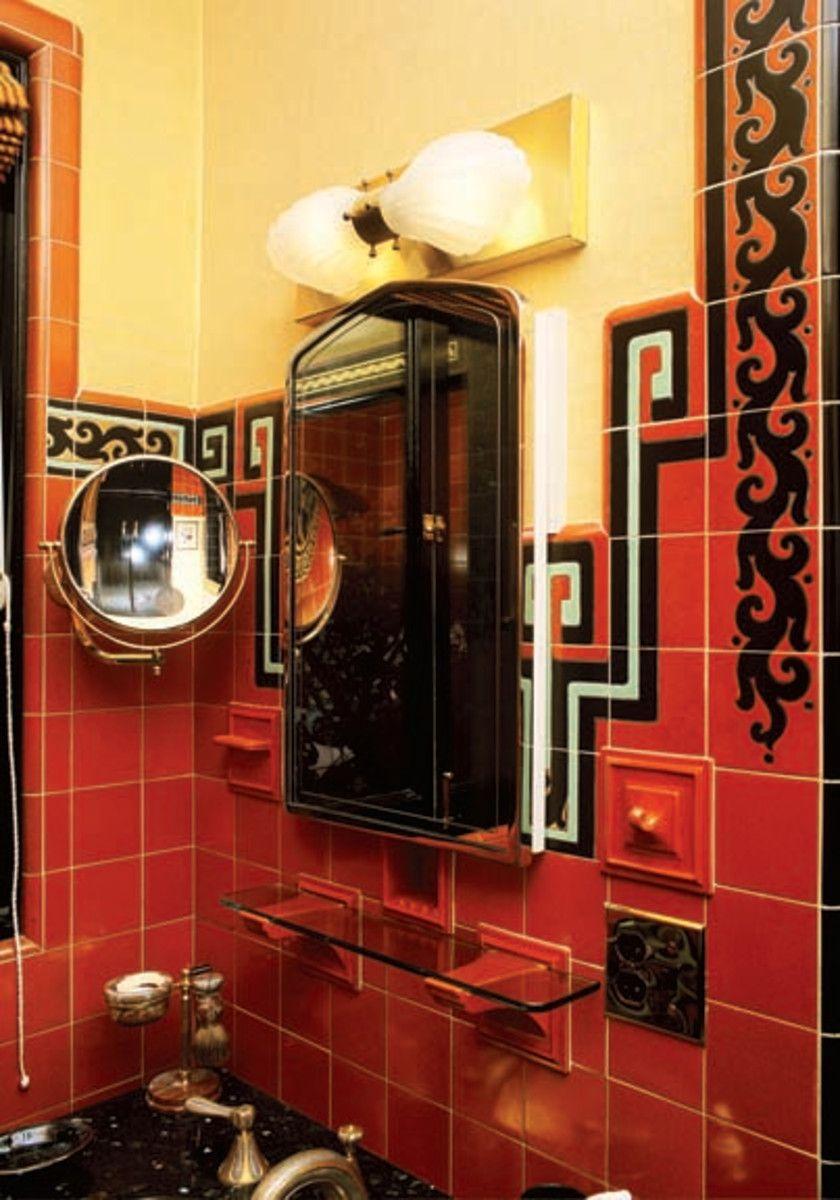 Art deco lighting for the bathroom art deco mirror art