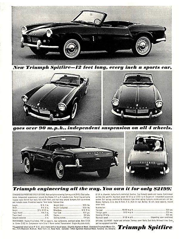 Pin By Henk Spoelstra On Triumph Spitfire Gt6 Triumph Spitfire Vintage Sports Cars Car Ads