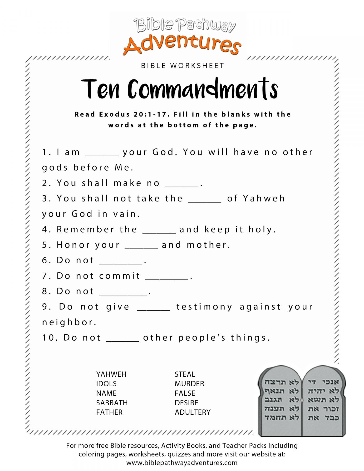 12 Bible Worksheet Preschool