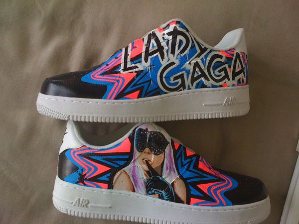 Lady Gaga Custom Nike Shoes.