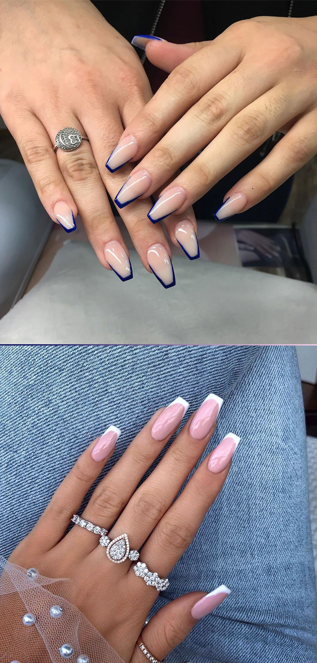 9 Stunning Modern French Manicure Ideas Stylish Belles French Tip Acrylic Nails Short Coffin Nails French Nail Designs