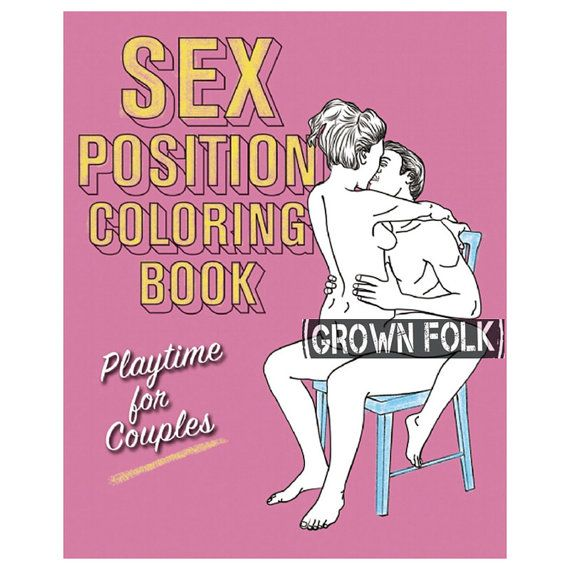 Adult Coloring Book 101 Sex Positions Bachelorette By GrownFolk