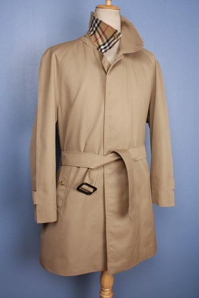 Large Vintage Burberry Trench Coat Classic Men's Extra Large Size Beige Tan XL 2szaeowGsC