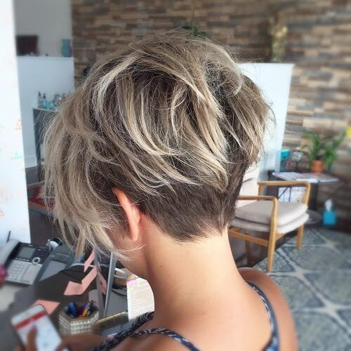 Longer Undercut With Pixie Haircut Short Haircuts In 2019 Short