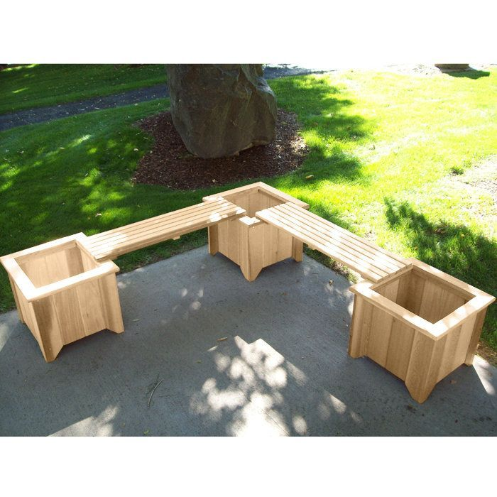 Back Deck Bench With Planters. Surround Yourself And Your Guests In Flowers  With This Outdoor Seating.