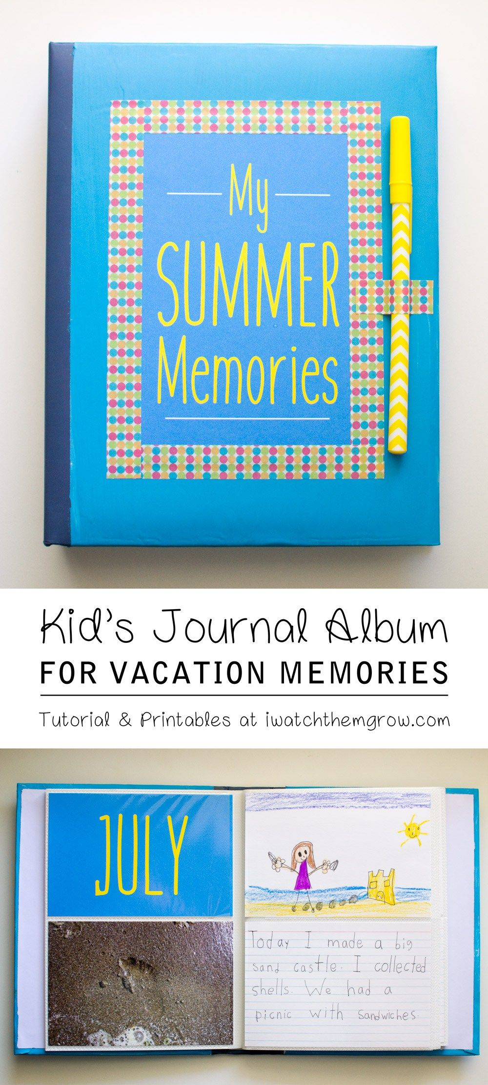 Kid S Journal Album An Easy Diy Free Printables With Images