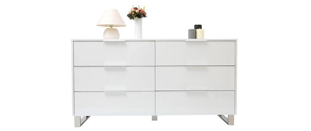 Commode Design Blanche commode design laquée blanche halifax | villa inspiration déco