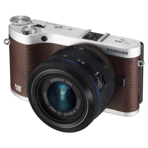 "nice Samsung NX300 20.3MP CMOS Smart WiFi Mirrorless Digital Camera with 20-50mm Lens and 3.3"" AMOLED Touch Screen"