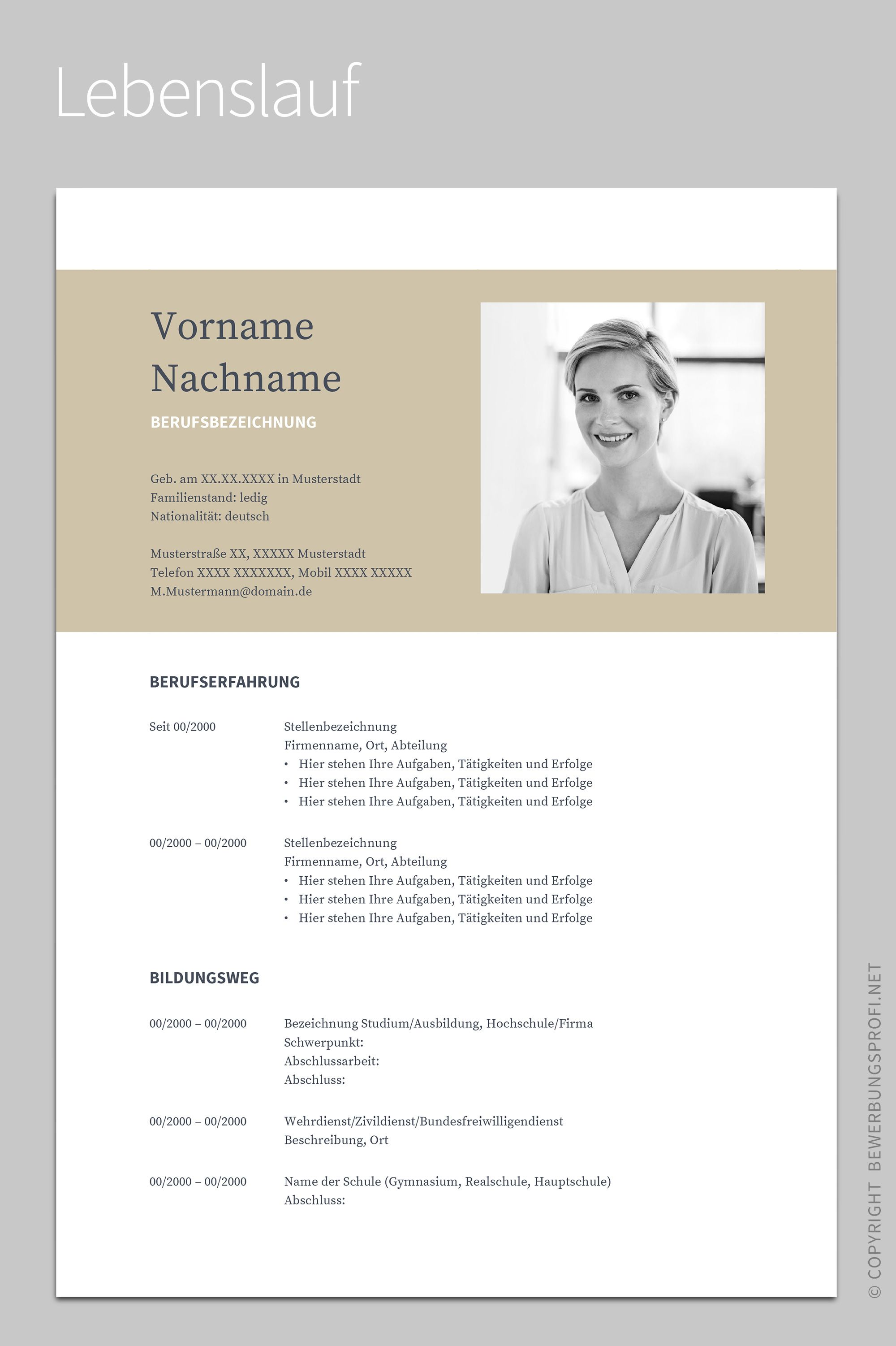 Lebenslauf 1 Napea Everything Pinterest Resume Resume Design