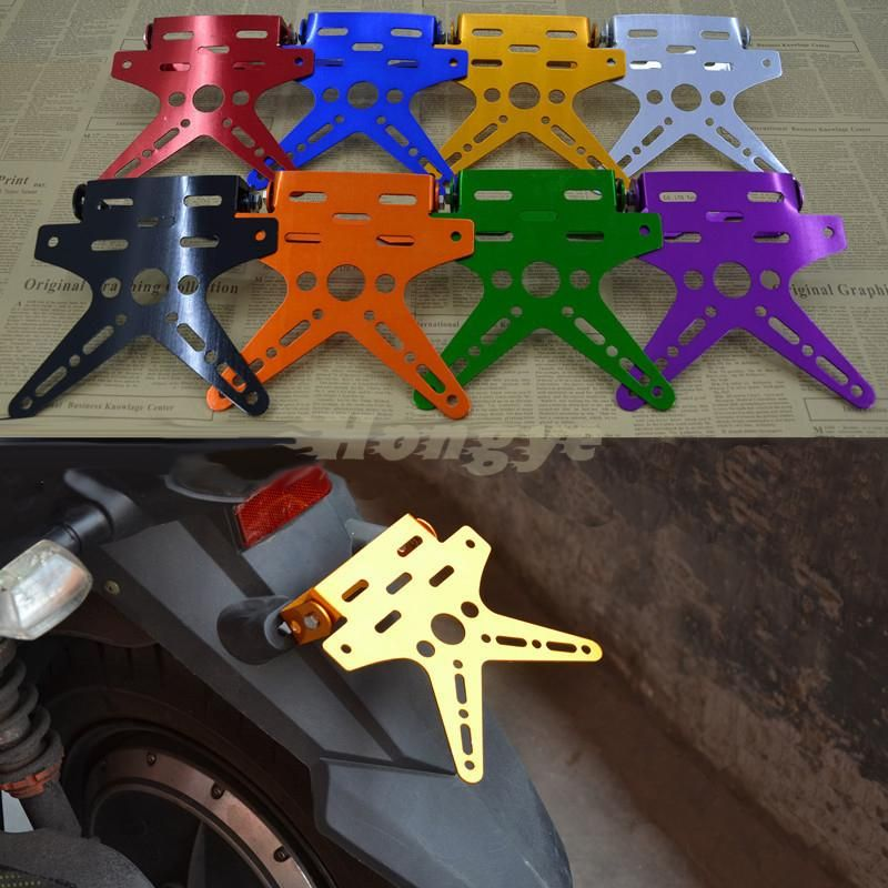 Universal Aluminum Motorcycle License Number Plate Holder Mount