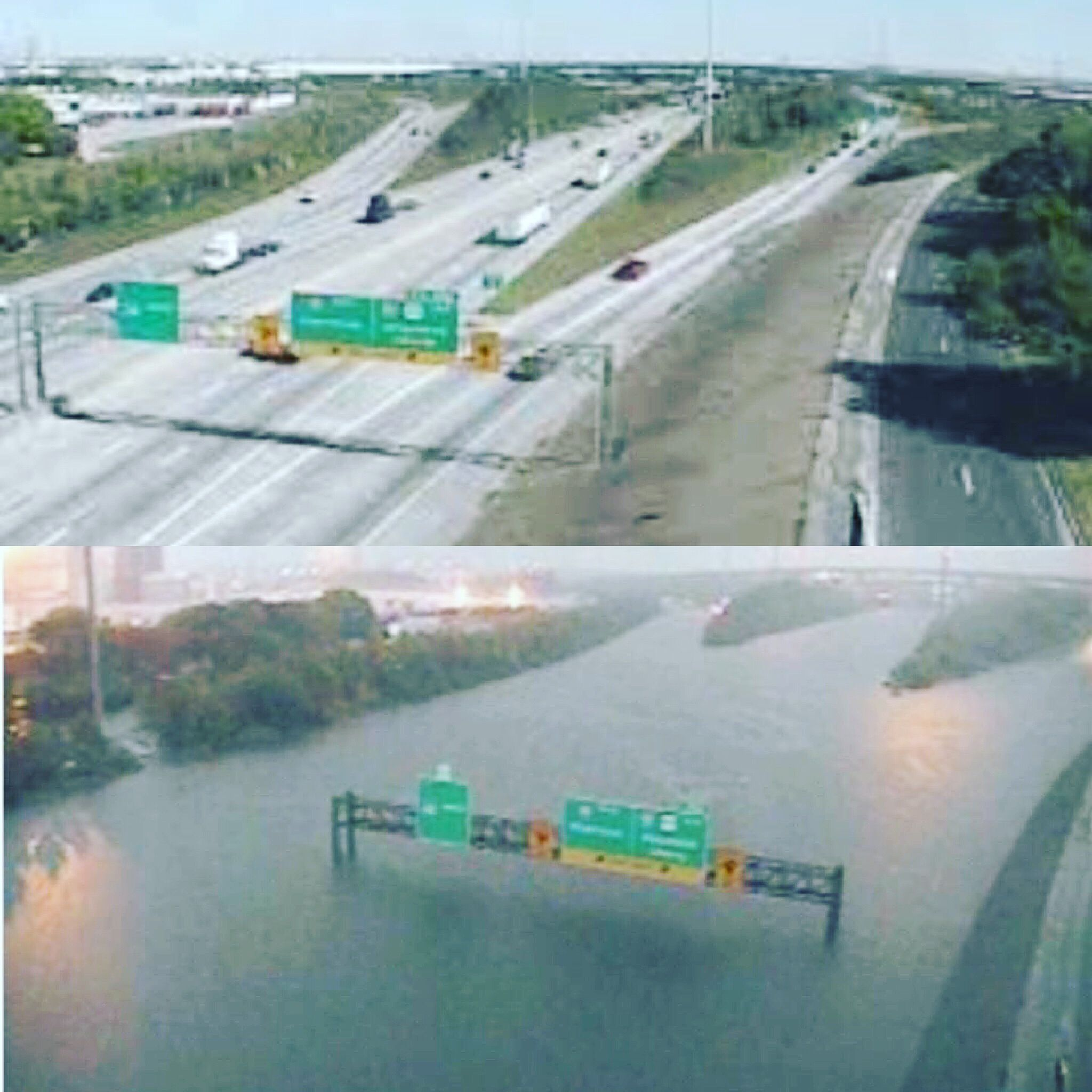 Houston S I 610 Before And After The Flood Waters Godblesstexas Hurricaneharvey Houston Flooding Texas Hurricane Texas City Explosion