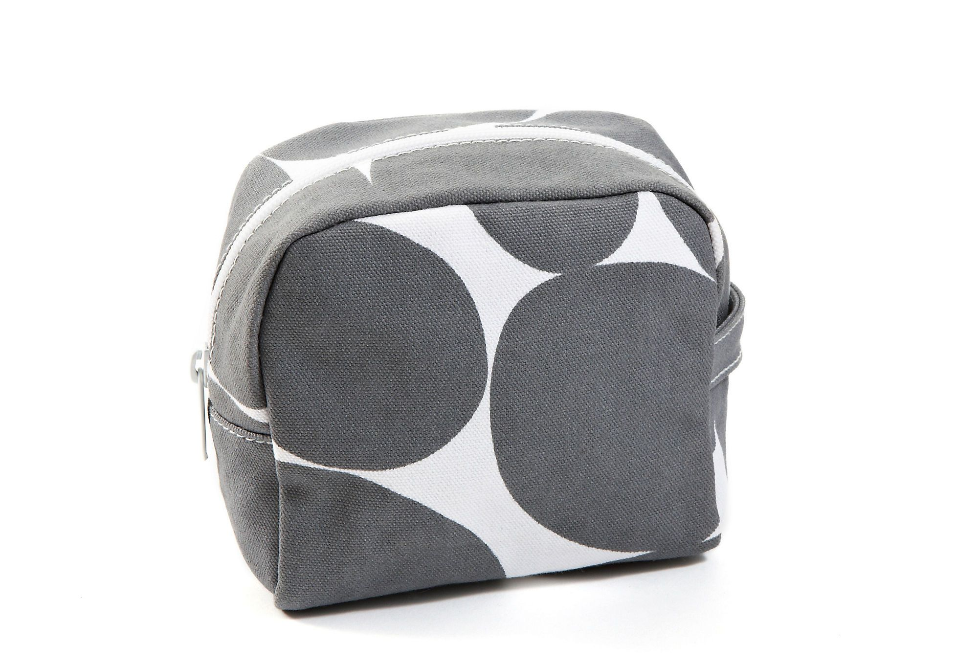 Sm. Cosmetic Bag, Gray Dot / SEE DESIGN #bag #makeup