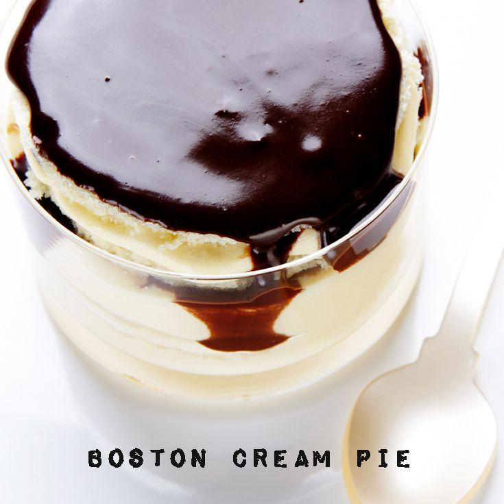 These Mini Boston Cream Pies are the perfect personal-sized dessert. #BiteMeMore #pie