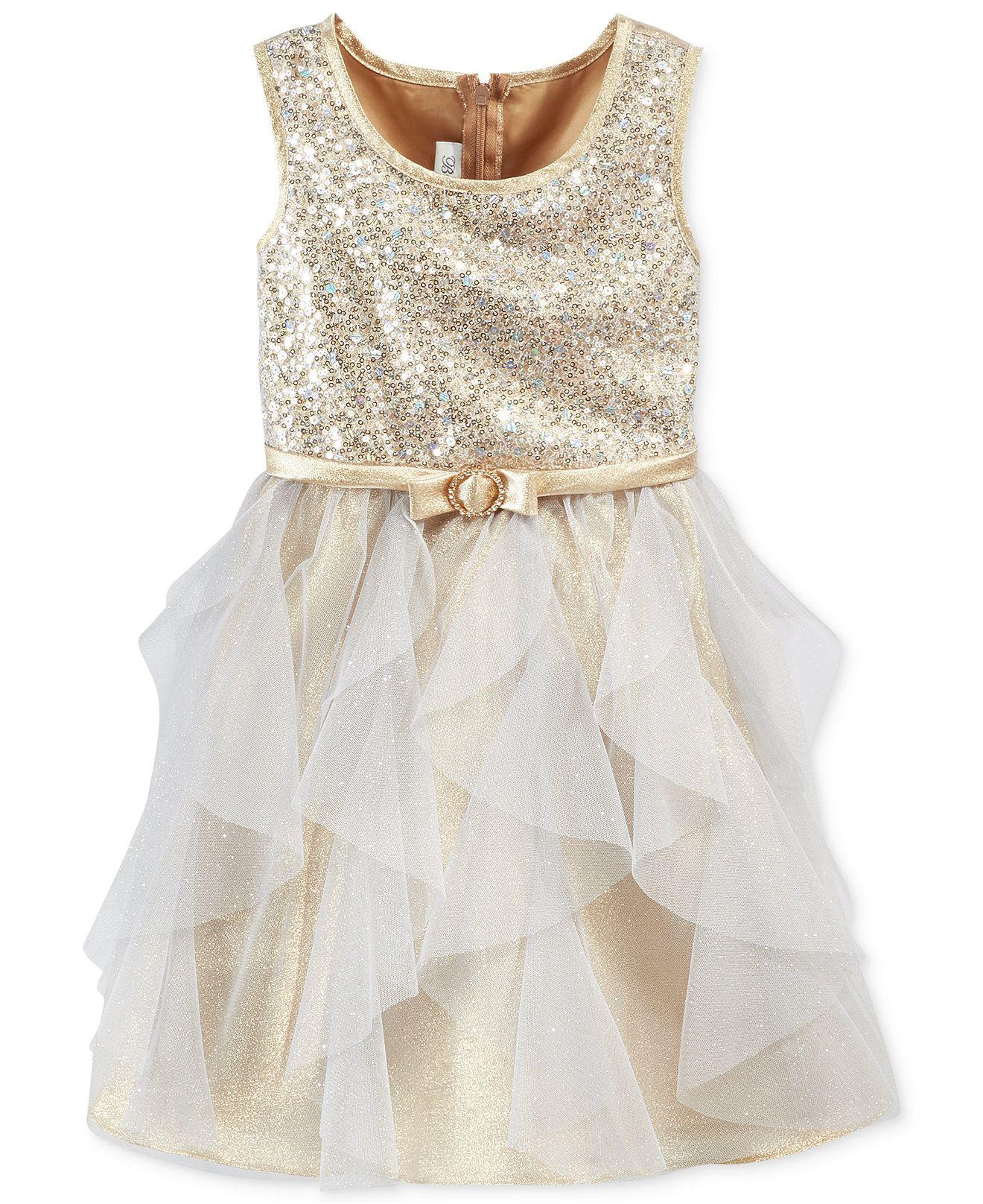 Bonnie jean little girls glittery tulle dress kids