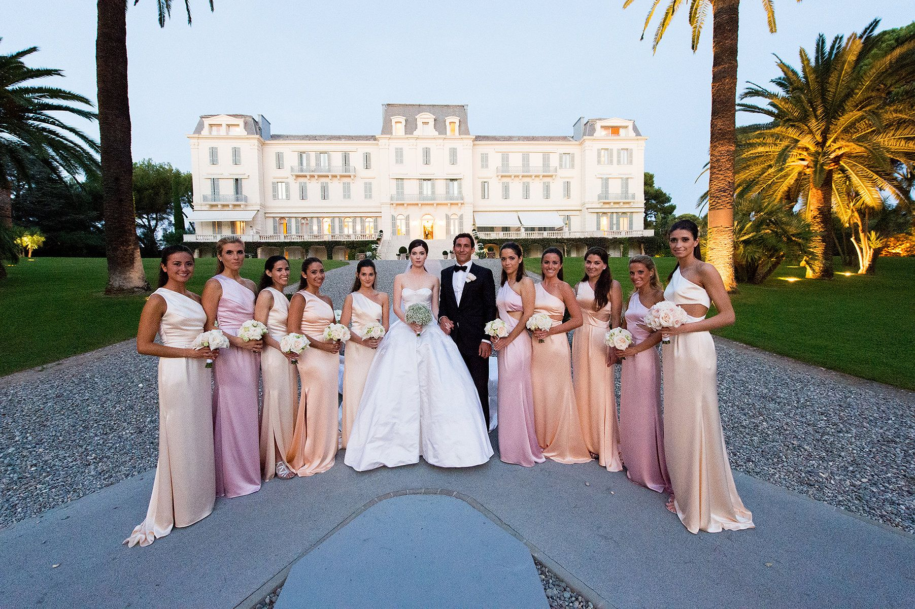 My bridesmaids looked insanely amazing in Prabal Gurung. I was so lucky to have this group of girls from London, from Princeton, and Teddy's sisters.