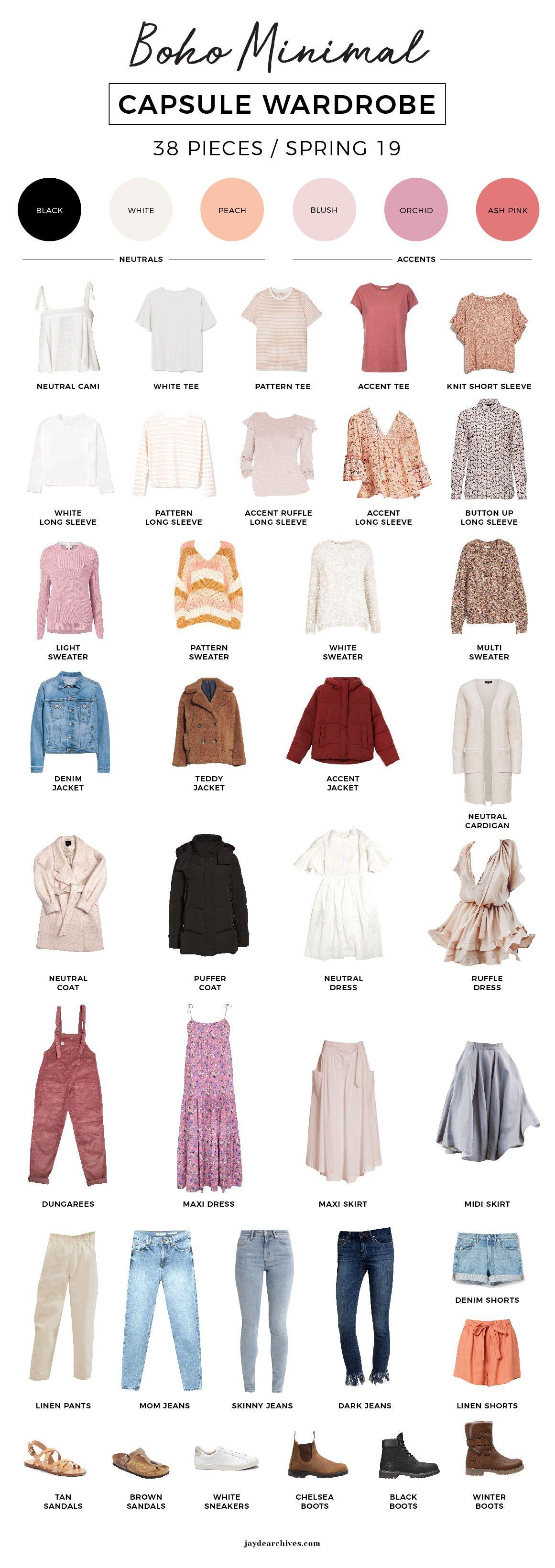 My 19′ Boho Minimal Spring Capsule Wardrobe #summerwardrobe