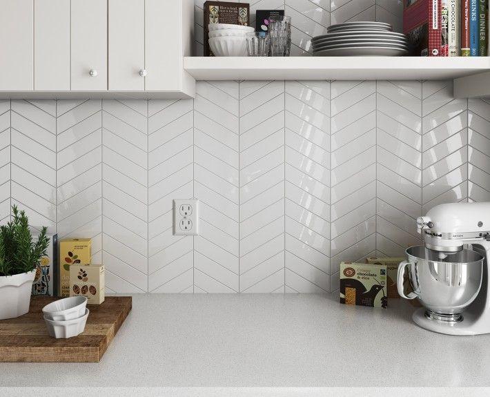 Equipe Ceramicas Chevron Wall Kitchen Pinterest