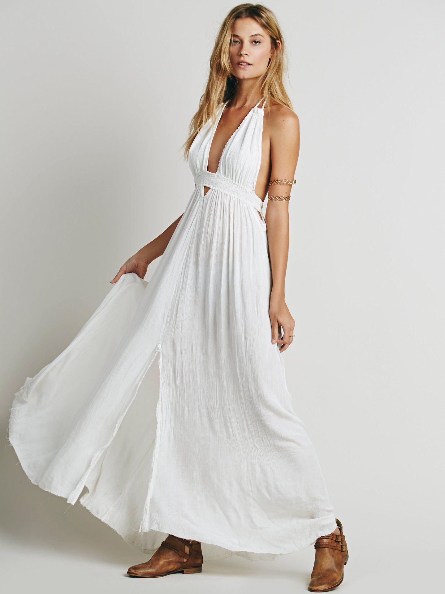 cd00eb30e11 Maxi Dresses Backless Halter Neck with Tassel Tie Sexy Dress Summer Boho  Beach Vestidos