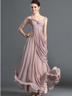 Stunning Sheath/Column Off-the-shoulder Ruffles Sleeveless Ankle-Length Dress