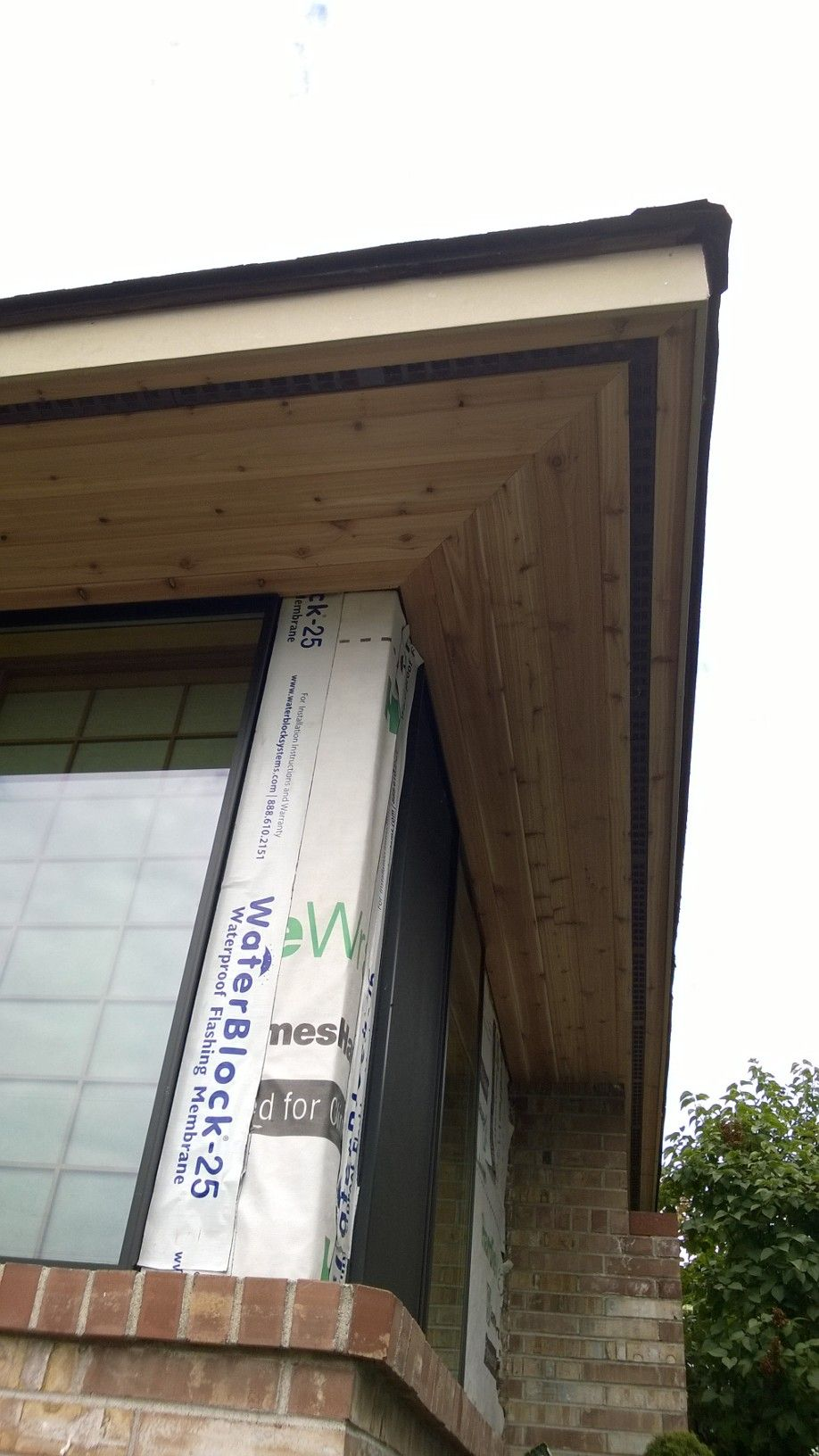 On This Project We Are Also Installing Tongue Groove Soffits To Complete The Exterior Transformation Cedar Siding Pool Houses Tongue And Groove