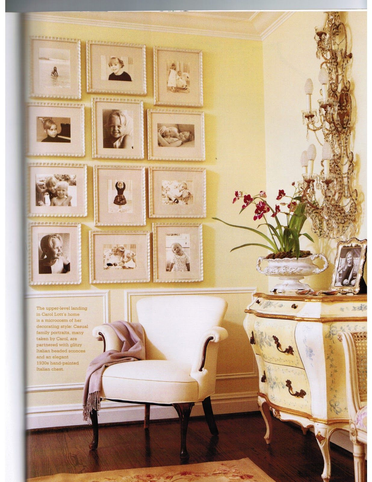 Home Decor Yellow Walls French Country Enchanting Yellow And White Family Picture