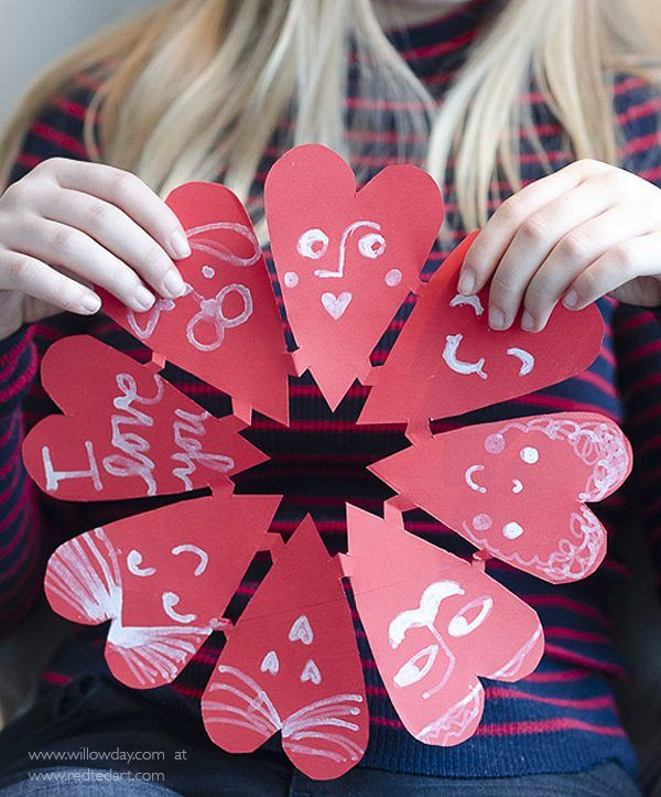 Valentine Paper Heart Snowflakes | Paper hearts, Decoration and ...
