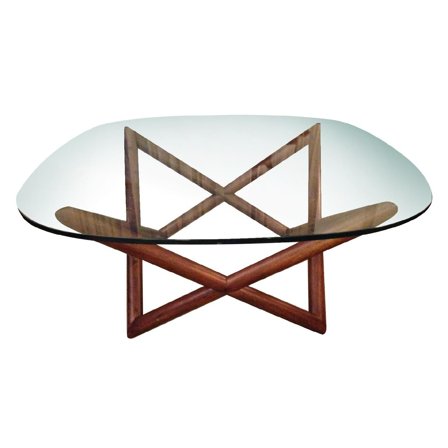 This Is A West Elm Spindle Coffee Table For Glass And Wood - West elm spindle coffee table