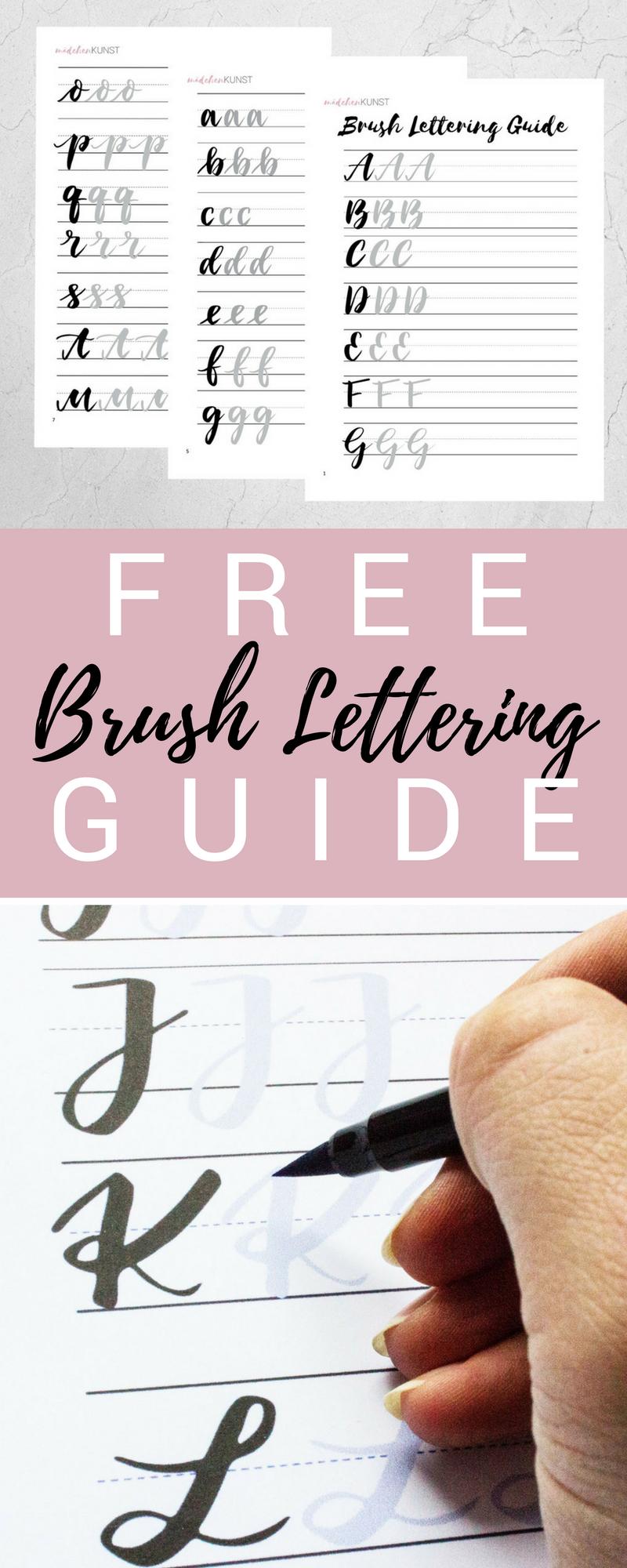 kostenloser brush lettering guide lettering letras. Black Bedroom Furniture Sets. Home Design Ideas