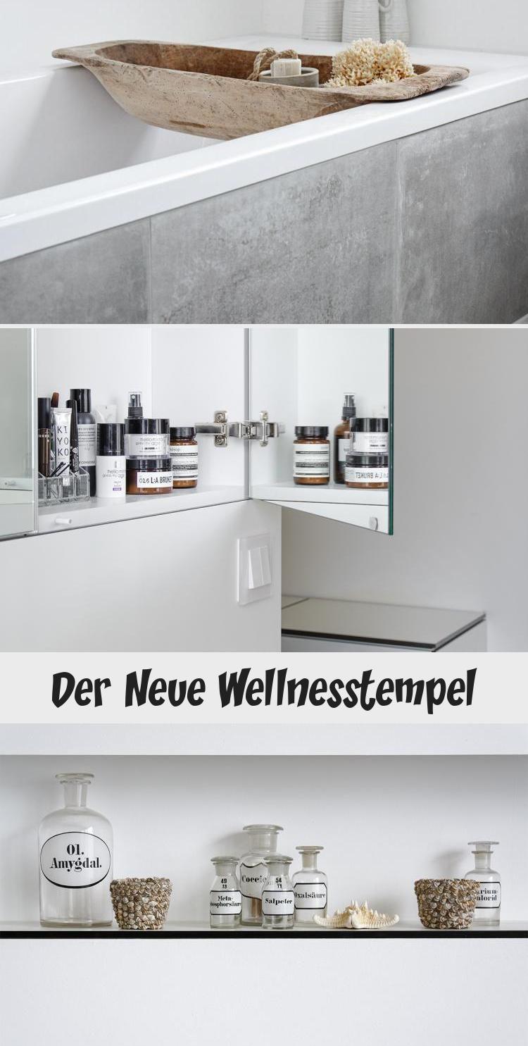 Der Neue Wellnesstempel Mit Bildern Bad Einrichten Led Leisten Betonoptik