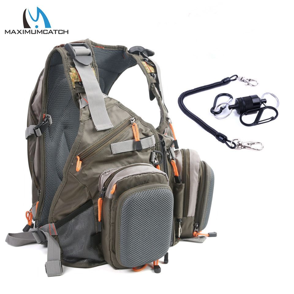 Heavy Duty Fly Fishing Chest Pack Bag//Outdoor Sports Fishing Backpack Combos