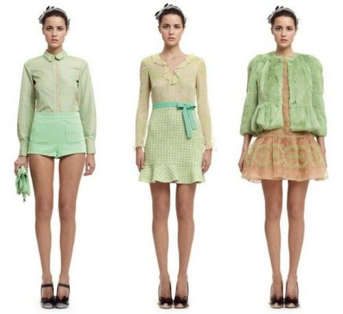 ..minty green by RED valentino..love the third look..