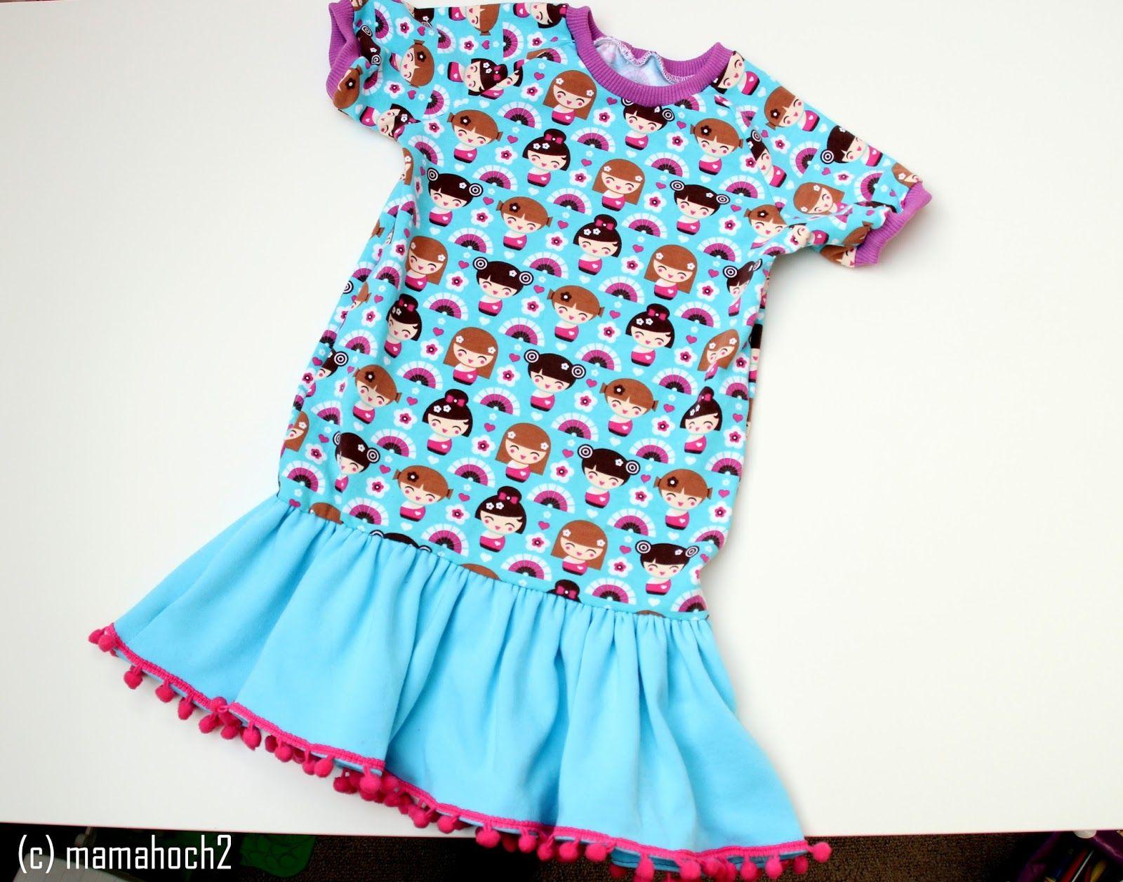 Baby kleid langarm nahen