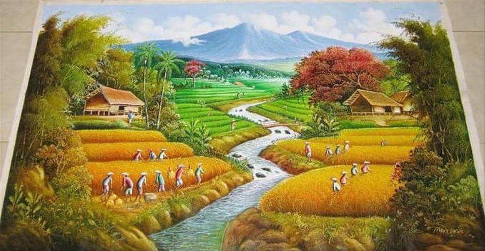 24 Lukisan Lukisan Pemandangan Alam Restock Termurah
