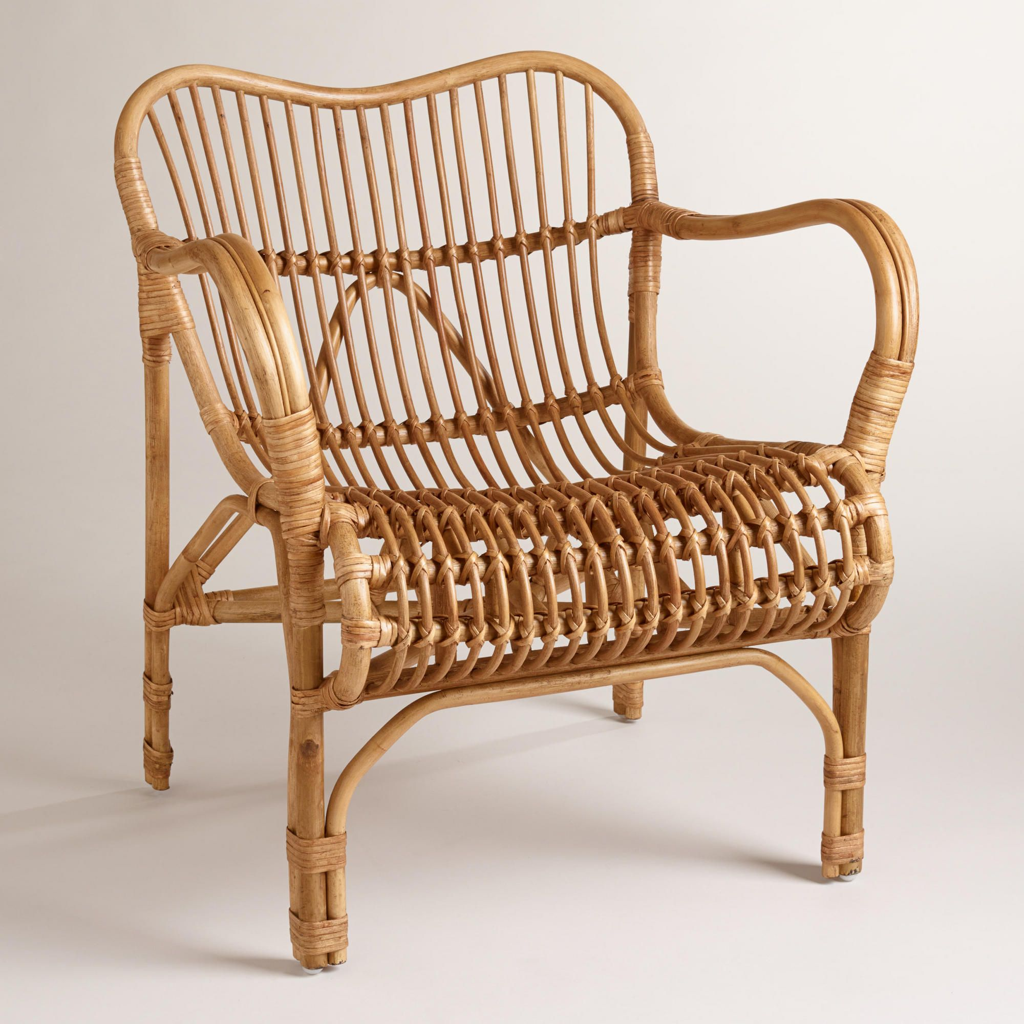 Rattan Cole Chair | World Market $199| Putting A Small Cushion To Give It A  Little Color