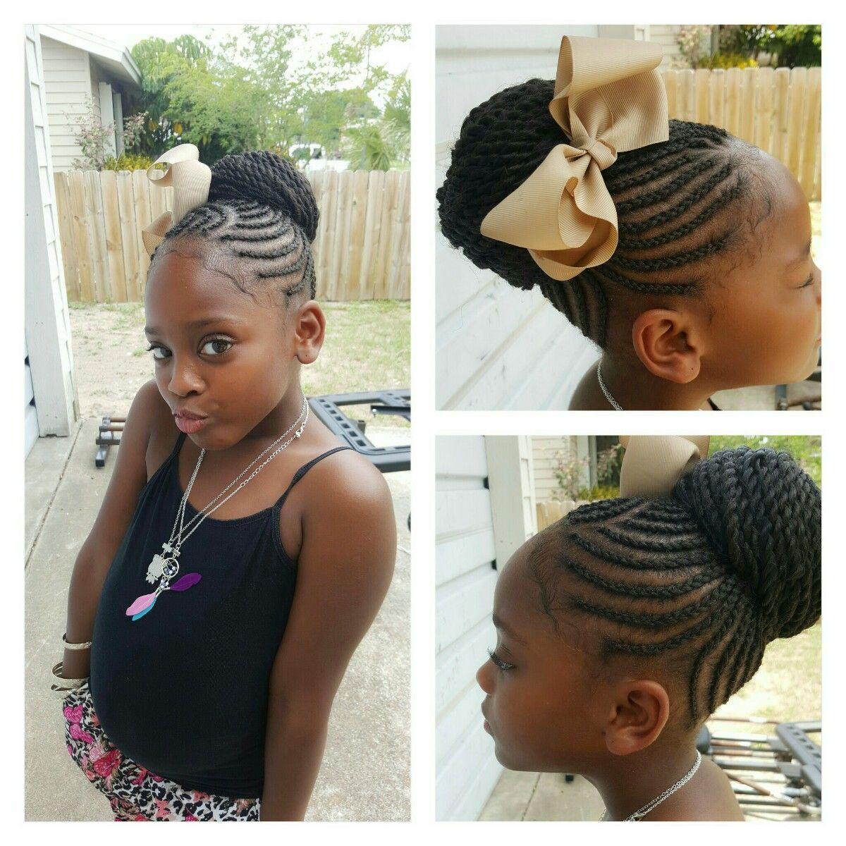 Kids Crotchet Braided Bun Kids Hairstyles Kid Braid Styles Braids For Kids