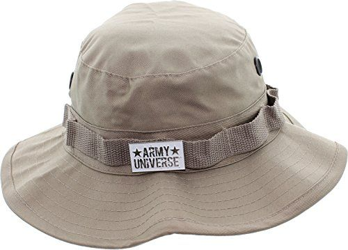Khaki Boonie Hat with ARMY UNIVERSE Pin - Size XX-Large 8  ea44032c175