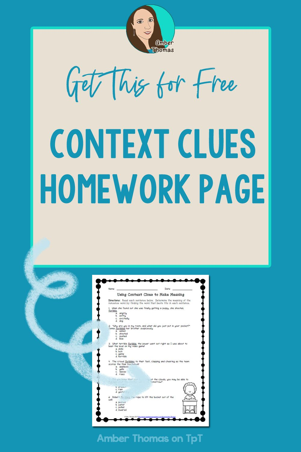 Context Clues Printable Distance Learning Or Homework Page Context Clues Context Clues Worksheets Reading Lesson Plans [ 1500 x 1000 Pixel ]