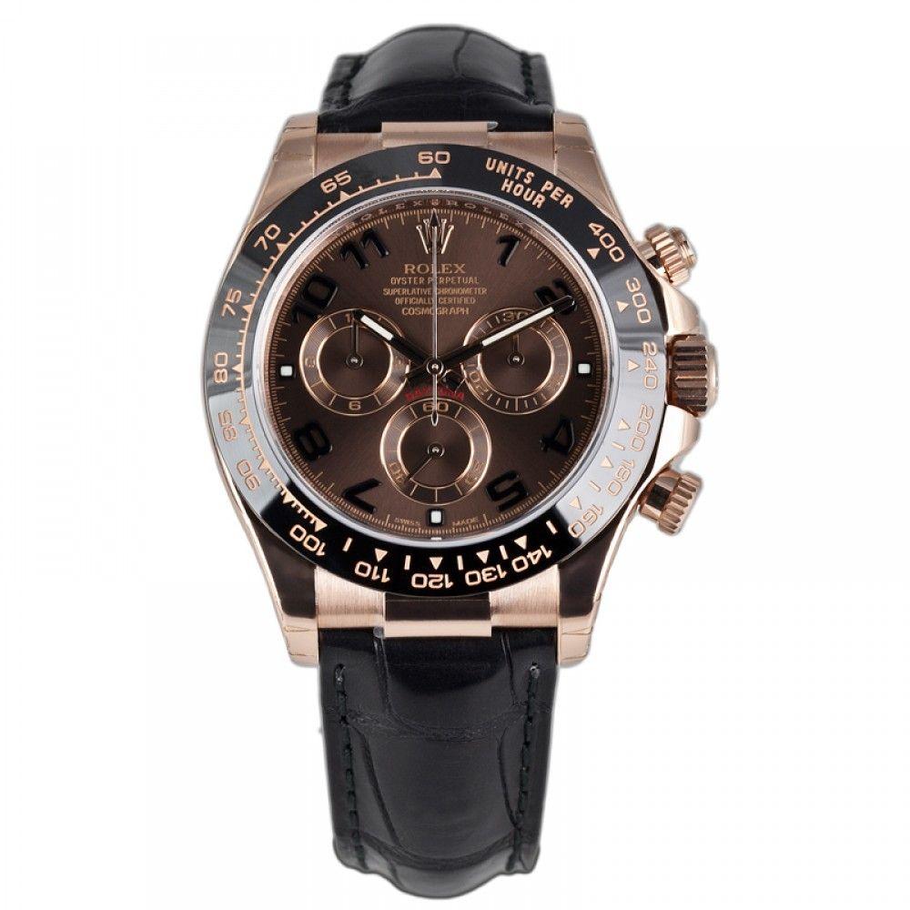 Rolex cosmograph daytona k everose gold watch chocolate dial
