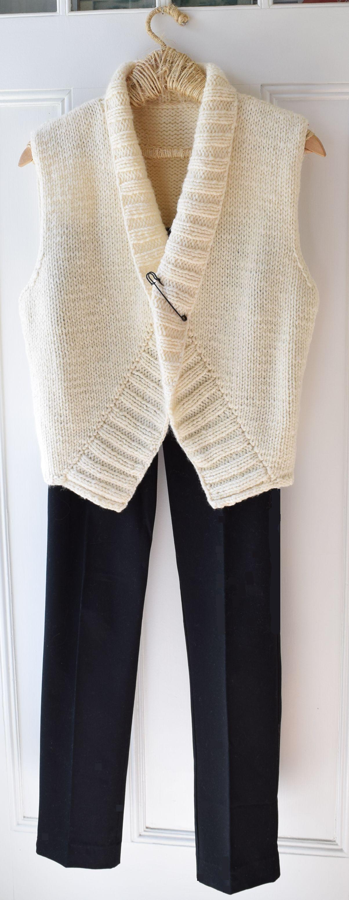 ML151 Vest Alternative | Knit vest pattern women, Knit ...