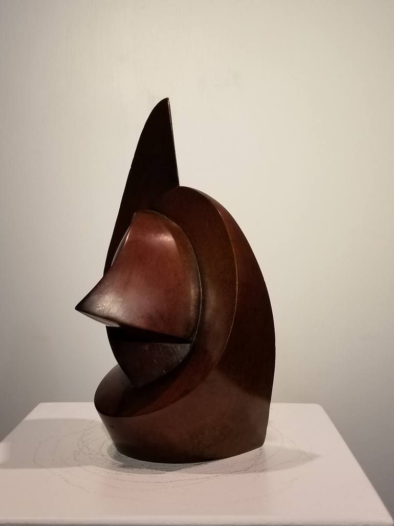 Photo of Original Abstract Sculpture by Ronald Anderson   Abstract Art on Bronze   eyes