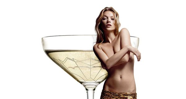 Kate Moss' left breast used to shape Champagne glass